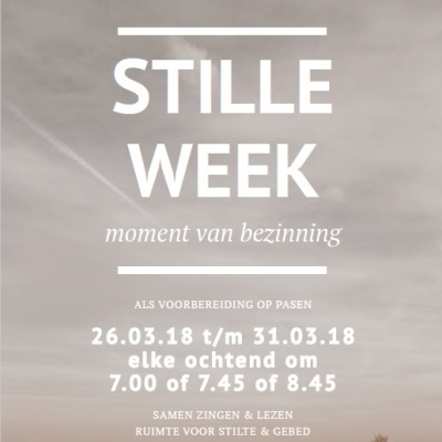 26 t/m 31 maart: Stille week in de Plantagekerk
